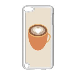 Artin Coffee Chocolate Brown Heart Love Apple Ipod Touch 5 Case (white) by Mariart