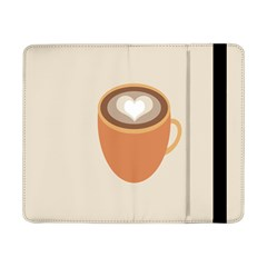 Artin Coffee Chocolate Brown Heart Love Samsung Galaxy Tab Pro 8 4  Flip Case by Mariart