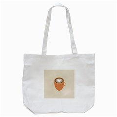 Artin Coffee Chocolate Brown Heart Love Tote Bag (white) by Mariart