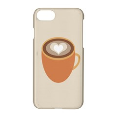 Artin Coffee Chocolate Brown Heart Love Apple Iphone 7 Hardshell Case by Mariart
