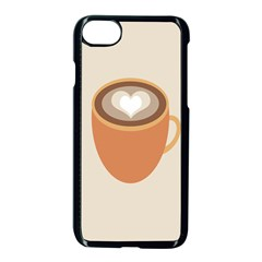 Artin Coffee Chocolate Brown Heart Love Apple Iphone 7 Seamless Case (black) by Mariart
