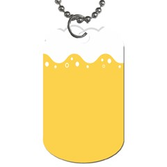 Beer Foam Yellow White Dog Tag (one Side) by Mariart