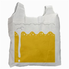 Beer Foam Yellow White Recycle Bag (one Side) by Mariart