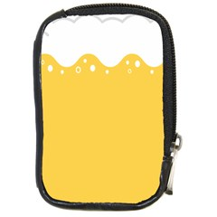 Beer Foam Yellow White Compact Camera Cases by Mariart