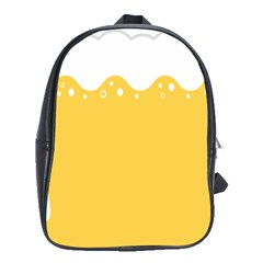 Beer Foam Yellow White School Bags(large)