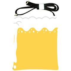 Beer Foam Yellow White Shoulder Sling Bags by Mariart