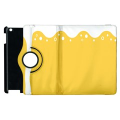 Beer Foam Yellow White Apple Ipad 3/4 Flip 360 Case by Mariart