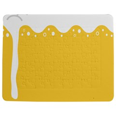 Beer Foam Yellow White Jigsaw Puzzle Photo Stand (rectangular) by Mariart