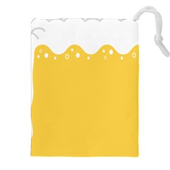 Beer Foam Yellow White Drawstring Pouches (xxl) by Mariart