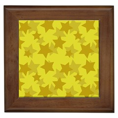 Yellow Star Framed Tiles by Mariart