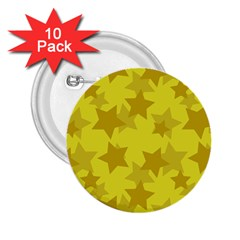 Yellow Star 2 25  Buttons (10 Pack)