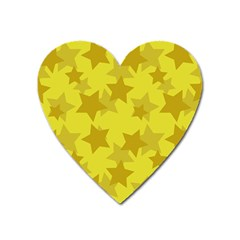 Yellow Star Heart Magnet by Mariart