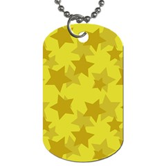 Yellow Star Dog Tag (two Sides) by Mariart