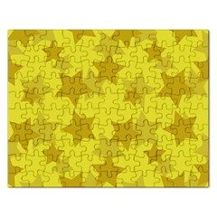 Yellow Star Rectangular Jigsaw Puzzl by Mariart