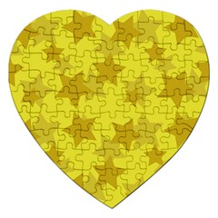 Yellow Star Jigsaw Puzzle (heart) by Mariart