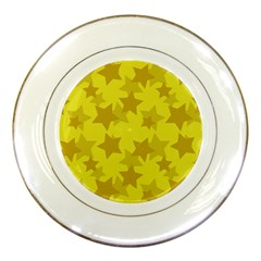 Yellow Star Porcelain Plates by Mariart