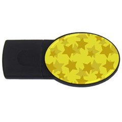 Yellow Star Usb Flash Drive Oval (4 Gb) by Mariart