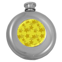 Yellow Star Round Hip Flask (5 Oz) by Mariart