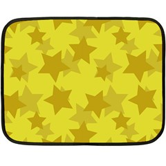 Yellow Star Fleece Blanket (mini) by Mariart