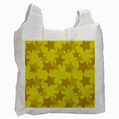 Yellow Star Recycle Bag (one Side) by Mariart