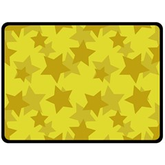 Yellow Star Fleece Blanket (large)  by Mariart