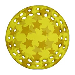 Yellow Star Ornament (round Filigree) by Mariart