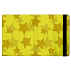 Yellow Star Apple Ipad 2 Flip Case by Mariart