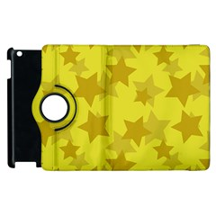 Yellow Star Apple Ipad 3/4 Flip 360 Case by Mariart