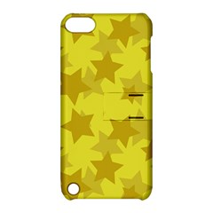 Yellow Star Apple Ipod Touch 5 Hardshell Case With Stand by Mariart