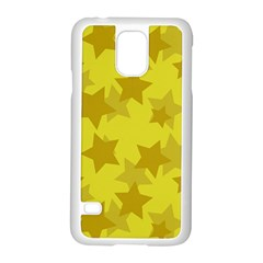 Yellow Star Samsung Galaxy S5 Case (white) by Mariart