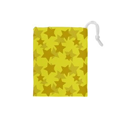 Yellow Star Drawstring Pouches (small)