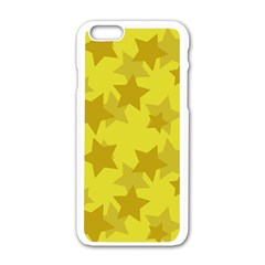 Yellow Star Apple Iphone 6/6s White Enamel Case by Mariart