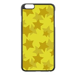 Yellow Star Apple Iphone 6 Plus/6s Plus Black Enamel Case by Mariart