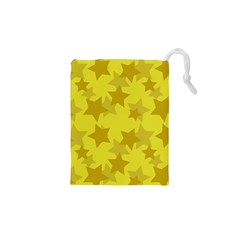 Yellow Star Drawstring Pouches (xs)