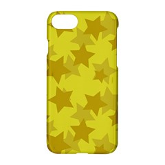 Yellow Star Apple Iphone 7 Hardshell Case by Mariart
