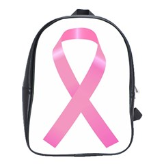 Breast Cancer Ribbon Pink School Bags(large)  by Mariart