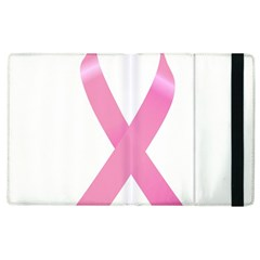 Breast Cancer Ribbon Pink Apple Ipad 3/4 Flip Case by Mariart
