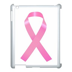 Breast Cancer Ribbon Pink Apple Ipad 3/4 Case (white) by Mariart
