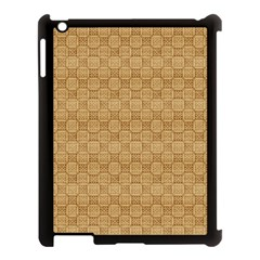 Chess Dark Wood Seamless Apple Ipad 3/4 Case (black) by Mariart