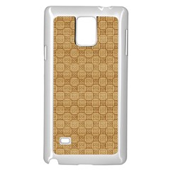 Chess Dark Wood Seamless Samsung Galaxy Note 4 Case (white) by Mariart