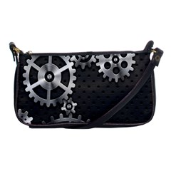 Chain Iron Polka Dot Black Silver Shoulder Clutch Bags by Mariart