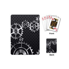 Chain Iron Polka Dot Black Silver Playing Cards (mini)  by Mariart