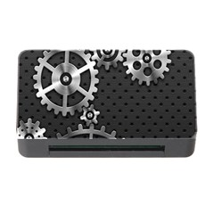 Chain Iron Polka Dot Black Silver Memory Card Reader With Cf by Mariart