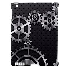 Chain Iron Polka Dot Black Silver Apple Ipad 3/4 Hardshell Case (compatible With Smart Cover) by Mariart