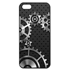 Chain Iron Polka Dot Black Silver Apple Iphone 5 Seamless Case (black) by Mariart