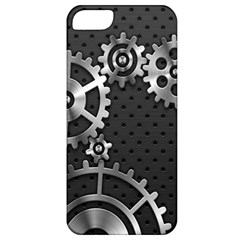 Chain Iron Polka Dot Black Silver Apple Iphone 5 Classic Hardshell Case by Mariart