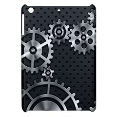 Chain Iron Polka Dot Black Silver Apple Ipad Mini Hardshell Case by Mariart