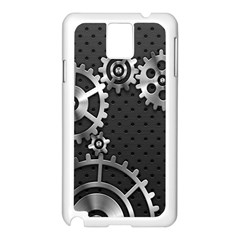 Chain Iron Polka Dot Black Silver Samsung Galaxy Note 3 N9005 Case (white) by Mariart