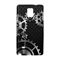 Chain Iron Polka Dot Black Silver Samsung Galaxy Note 4 Hardshell Case by Mariart