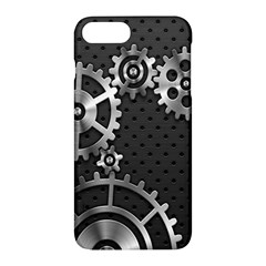 Chain Iron Polka Dot Black Silver Apple Iphone 7 Plus Hardshell Case by Mariart